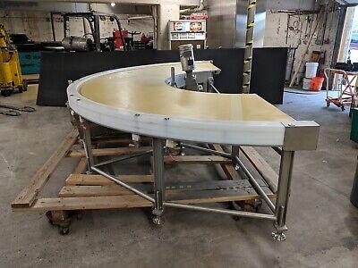 Kofab Curveyor 40-36.5-180-ss Curved 180 Stainless Steel Belt Conveyor 40 Wide