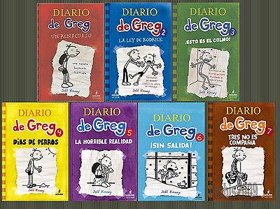 SPANISH Diary of a Wimpy Kid-El Diario de Greg Hardcover Set 1-7 by Jeff Kinney