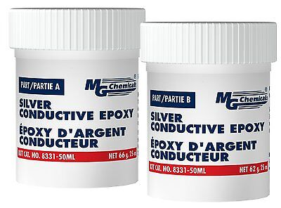 Mg Chemicals 8331s-50ml Two-part Silver Epoxy Highly Conductive Adhesive
