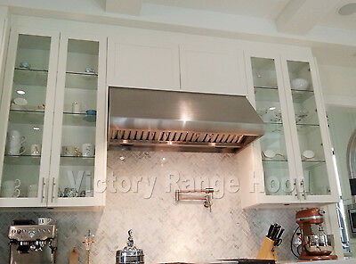 "HEAVY DUTY RANGE HOOD (BBQ HOOD) 48"" WITH MECHANICAL, ROTARY SWITCHES."