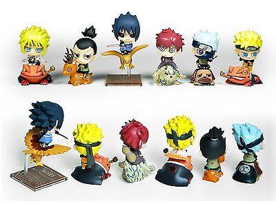 """6x Naruto J-Amine 2.5"""" Mini Figures Set Toys: Kakashi Sasuke Gaara Namikaze NEW"""