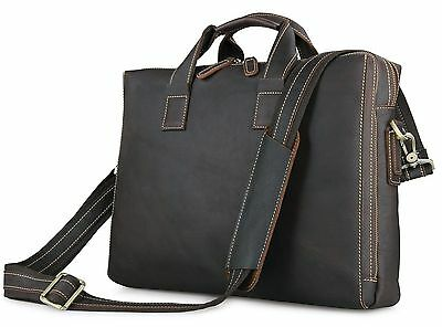 Men's Real Genuine Leather Handbag Briefcase Shoulder Messenger Business Bags