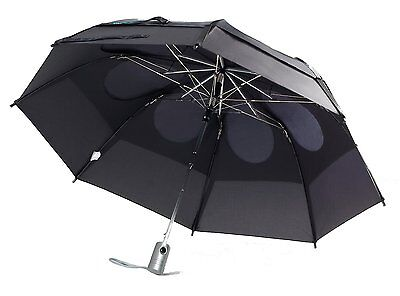 Gustbuster Metro Umbrella Black Automatic Open - Gustbuster Metro Umbrella