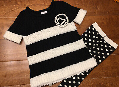 Mudpie Baby Toddler Girls Size 2T-3T Holiday Sweater Dress and Tights *NWOT