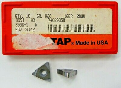 9 Pieces Snap-tap 16er 28un K20 Hx Carbide Inserts  H034