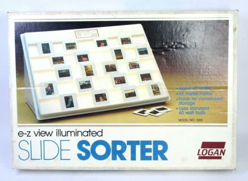 Logan E-Z View Illuminated Slide Sorter in Box, Model 1055 Lightly Use VGC!