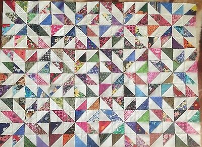 12  Color Collection Pinwheels Quilt Blocks 100% Cotton made in USA