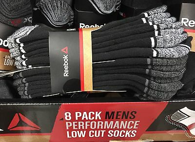 (SALE 8PK Men's REEBOK Low Cut Sport Performance Socks Running Crossfit VARIETY)
