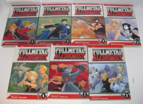 Lot (7) Fullmetal Alchemist Paperback Manga Comic Books #2-8 by Hiromu Arakawa