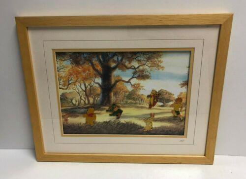 Winnie the Pooh DISNEY Piglet Eeyore Tigger Framed 15 x 19 Artist Proof Pin Set
