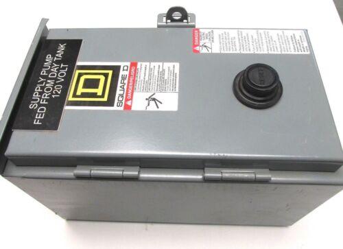 Square D Size 0  Magnetic Motor Starter Cat# 8536SB02S Nema 3R/12 Encl .. VR-11