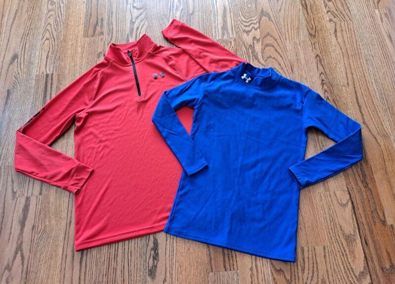 Under Armour Base Layer Fitted Mock Shirt Sweatshirt Boy