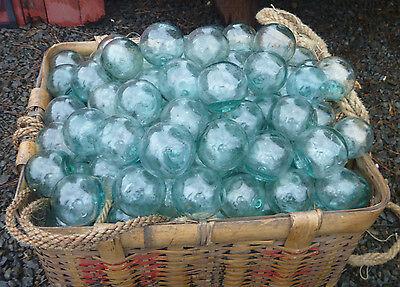 "Japanese Glass Fishing FLOATS 2"" LOT-15 Round Net Buoy Balls Authentic Vintage"