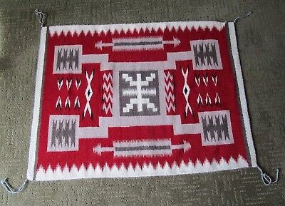 Authentic Hand Woven Navajo Rug Wool Artwork by Native Navajo Yazzie