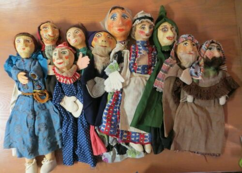 Vintage Hand Made Puppet Paper Mache Unique Folk Art Toy Dolls ( Chose of ONE )