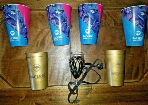 Bacardi Rum Bronze Cups / Tasting Cup / Superbowl LIV 2020 Memorabilia Lot of 7
