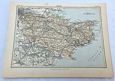 circa 1880s map of kent !  ( adam & charles black )