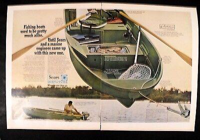 1969 Ted Williams Red Sox Sears Mlb Baseball Fishing Boat Sports Memorabilia Ad