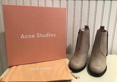 NIB Acne Studios Pistol Boots in Natural Tan Beige -- Size 37 / 7 -- BRAND NEW