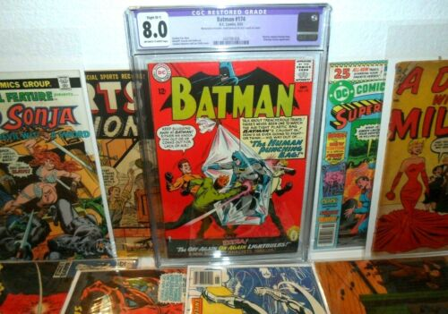 BATMAN 174 CGC (8.0) DC COMICS BOOKS LOT RESTORED (B-1) FOX/INFANTINO (1965)