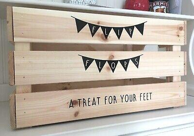 FLIP FLOPS A TREAT FOR YOUR FEET Vinyl Decal Stickers - DIY Wedding Crate - Flip Flops For Weddings