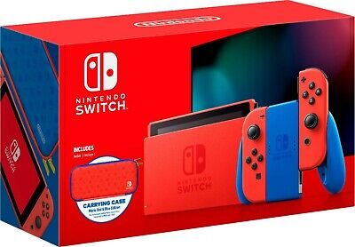 BRAND NEW Nintendo Switch Console MARIO RED & BLUE EDITION Red Joy Cons Bundle