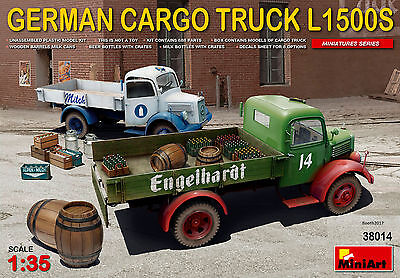 MINIART 38014 German Cargo Truck L1500S Type w/Asseccories in 1:35