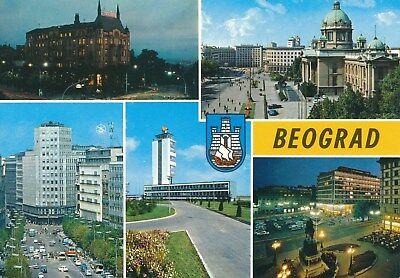 alte AK Belgrad - fünf Ansichten, Jugoslawien ungelaufen '68 Ansichtskarte B027g