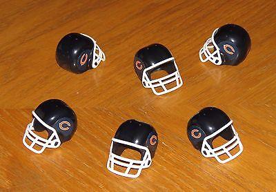 Chicago BEARS 6 Mini Team Helmet Lot NFL football party favors gumball (Mini Football Helmets Party Favors)
