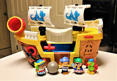 Fisher-Price Little People Lil' Pirate Ship w/ Sounds, Pirates & Parrot