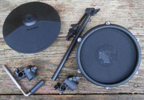 "Alesis 8"" Dual-Zone Mesh Upgrade & 10"" Cymbal w/ Mtg H/W for Nitro 1 1/8"" Rack"