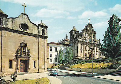 Church of St Salvador and new Cathedral Coimbra Portugal Postcard Unused vgc