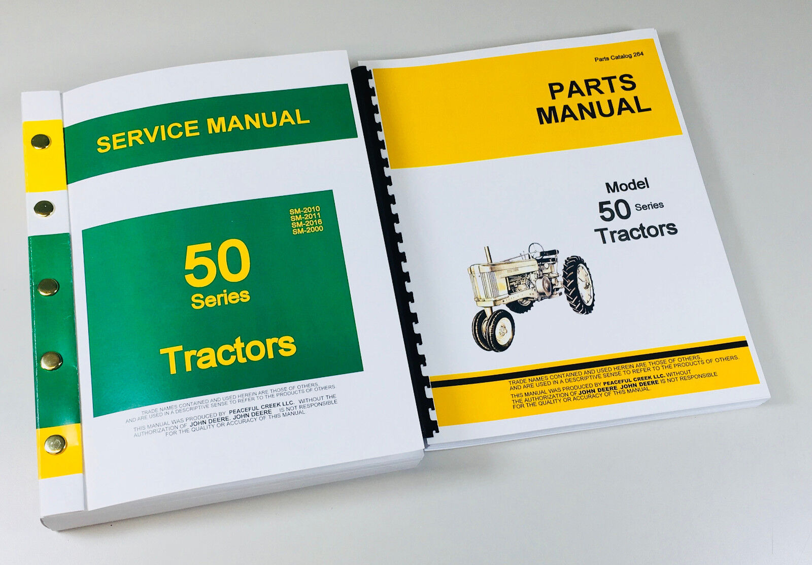"""The service manual alone is actually four (4) crucial 50 series Deere  manuals compiled into one """"Master"""" Manual that has over 630 pages total!"""