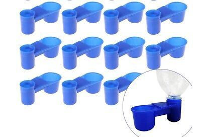 10 Pack Pop Bottle Watering Cup for Birds, QUAIL DOVE CHICKEN PIGEON & more