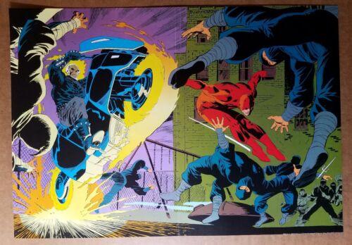 Ghost Rider Daredevil Marvel Comics Poster by Lee Weeks