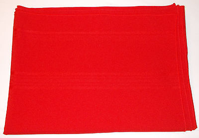 Vintage 50-60's Christmas Red Tablecloth Solid Red Diamond Design 60 X 82