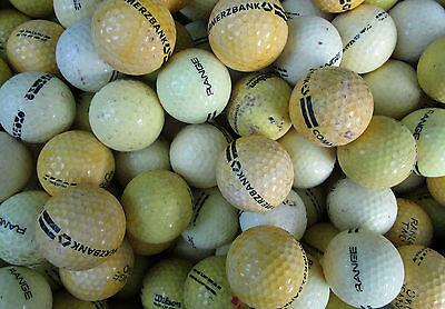 50 gelbe  Rangebälle Golfbälle  für Crossgolf und zum üben