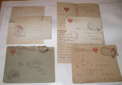 WW1 AEF AMERICAN EXPEDITIONARY FORCE Covers Letters SOLDIERS MAIL United States