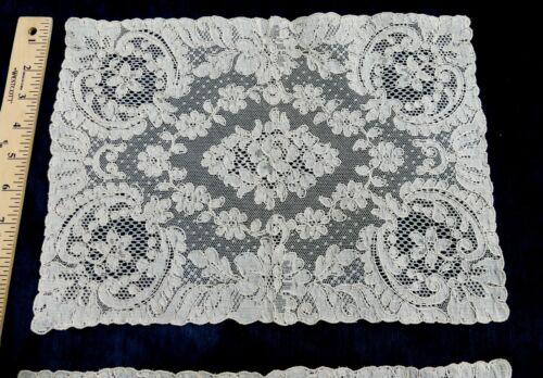 "Antique French Alencon lace place mate  10"" x 14"""