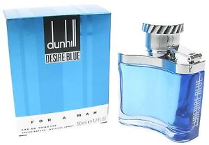ALFRED DUNHILL DESIRE BLUE EDT 50ML SPRAY MEN'S FOR HIM NEW NO RESERVE 1p !!!!!!