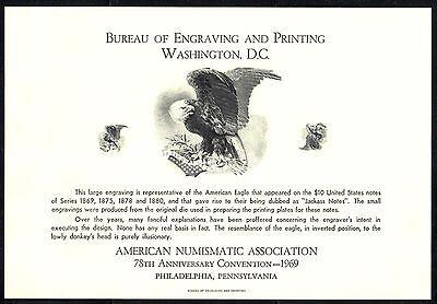 SC#NSC1 - American Numismatic Association 1969 Souvenir Card - Original Envelope