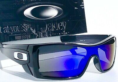 NEW Oakley BATWOLF Black polished ink POLARIZED Galaxy Blue 2 lens Sunglass 9101