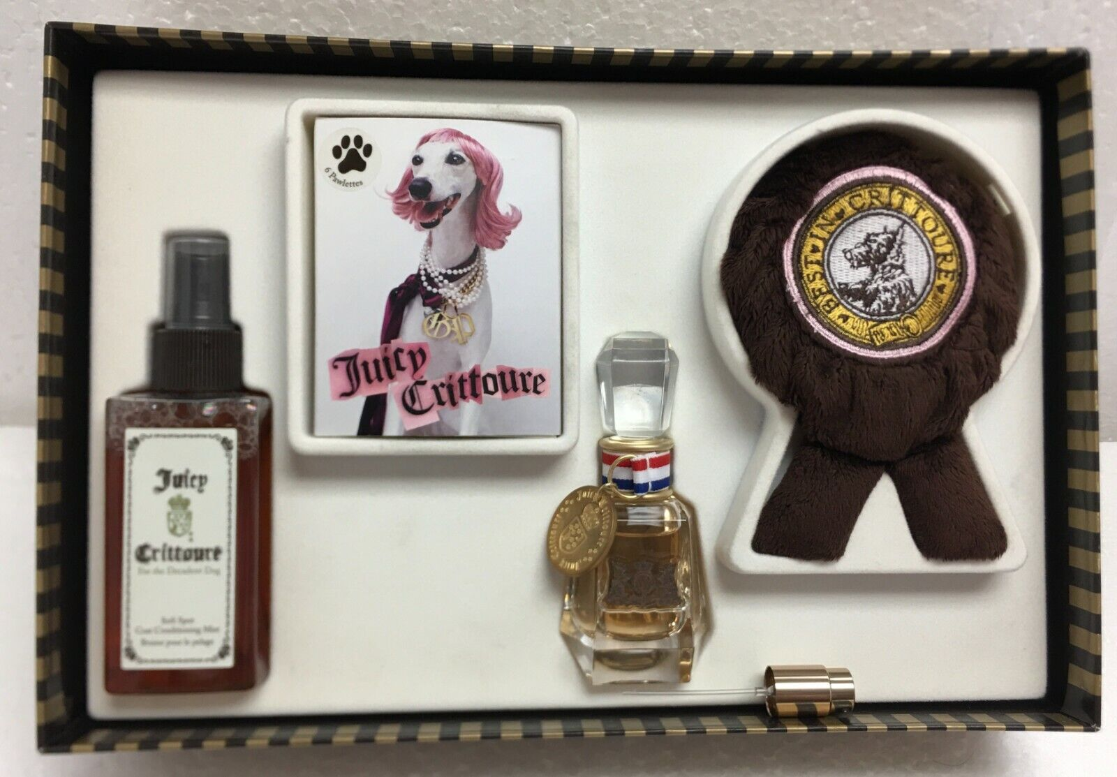Juicy Crittoure For The Decadent Dog Gift Set 4Pcs Boxed New Discontinued  - $36.99