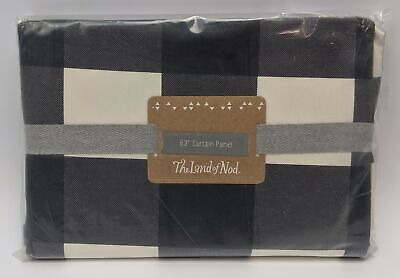 "The Land of Nod 63 inch Curtain Check Panel 44"" x 63"" Buffalo 267771"