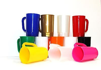 75 1 Pint Beer Mugs Wholesale Lots Mfg in USA Dishwasher Safe Choice 17 Colors*