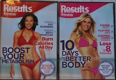 2 Results Fitness workout DVD lot Boost Your Metabolism 10 Days to a Better
