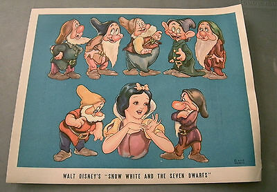 Vintage 1938 Walt Disney's Snow White & The Seven Dwarfs RKO Proctors promo AD
