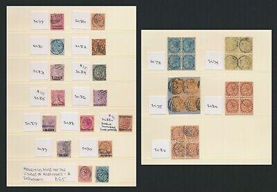 MAURITIUS STAMPS 1883-1900 SUPERB QV PAGES INC SG #117, #118c & B65 RODRIGUES