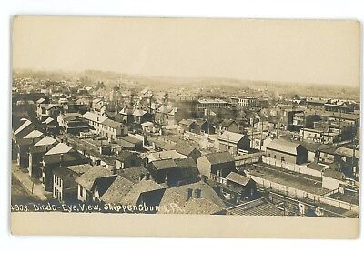 (RPPC Aerial Birdseye View SHIPPENSBURG PA Clyde Laughlin Real Photo Postcard)