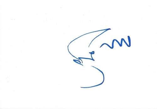 Simon Fisher Turner Composer signed 4x6 inch white card autograph